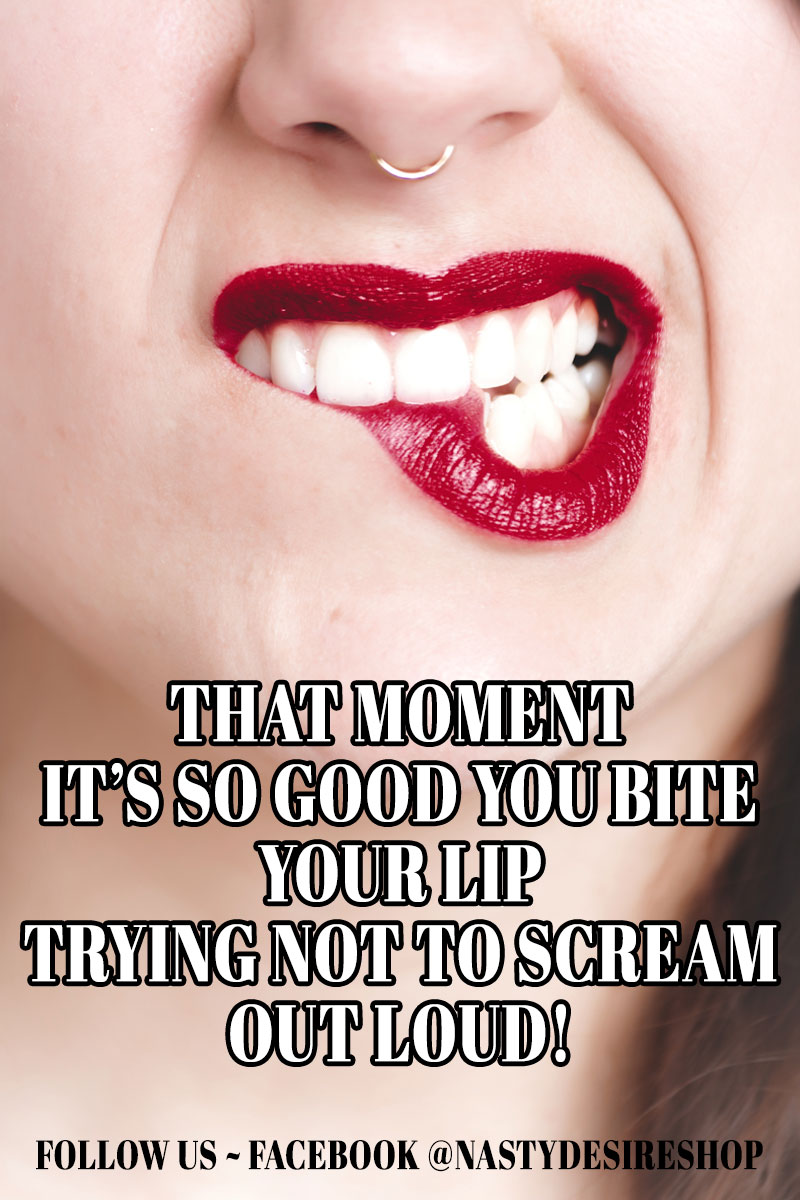Adult Meme: That moment it's so good you bite your lip trying not to scream out loud!
