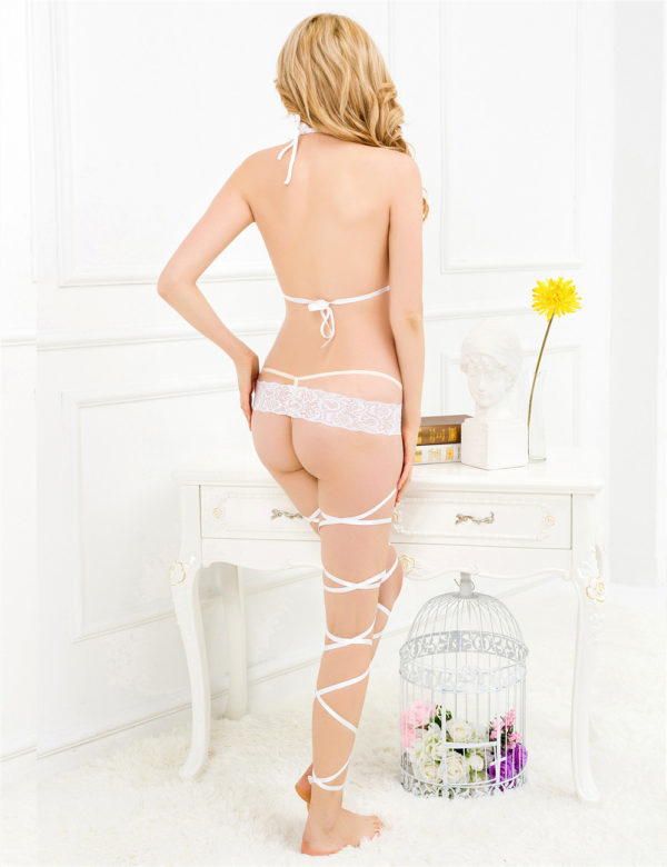 Lace Cage Strap Bodystocking 6