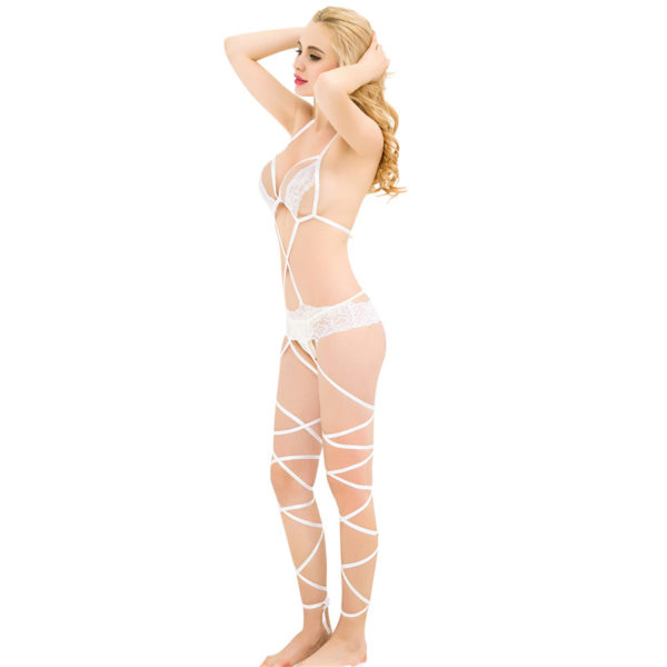 Lace Cage Strap Bodystocking 3