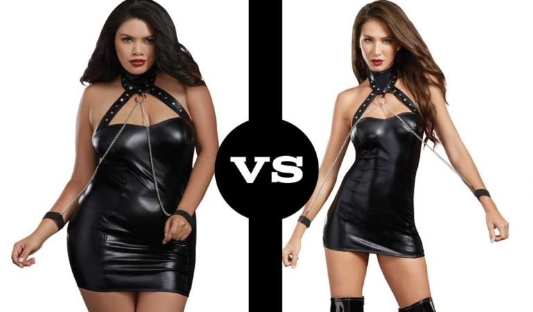 Which Sexy Model Wore This Chemise and Wrist Cuffs Best?